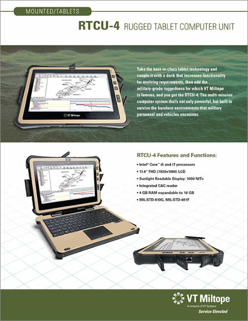 RTCU-4 Rugged Tablet Computer Unit - VT Miltope